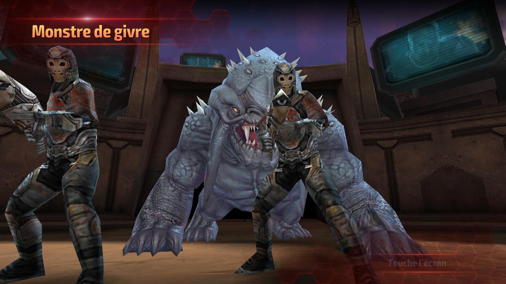 L'arène ainsi que la bête et les minions du mode tournoi d'alliance