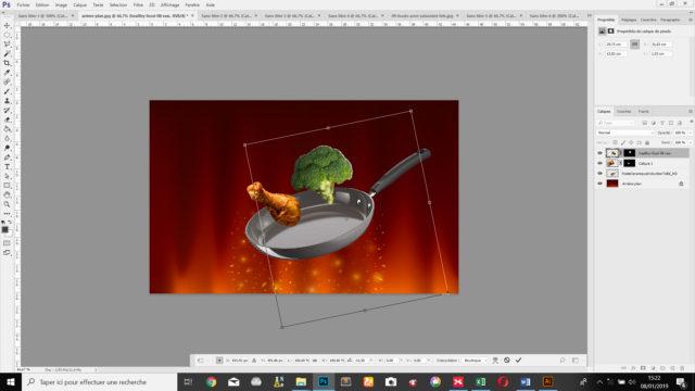 L'outil transformation manuelle permet la rotation des images