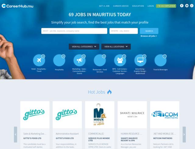 Careerhub.mu est le site d'offres d'emploi qui inspire le plus confiance à Maurice