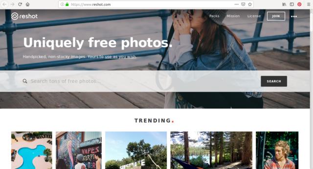 Des milliers de photos libre de droit vous attendent sur Reshot