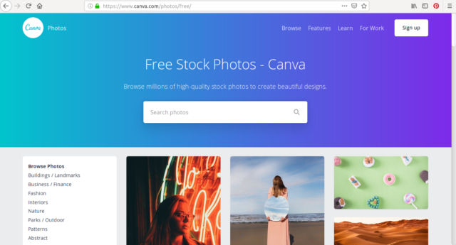 Canva, c'est plus qu'un outil de création graphique, c'est aussi une banque d'images en ligne