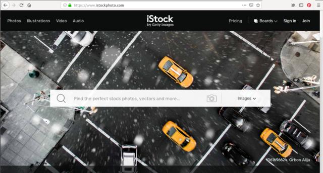 Istockphoto héberge des millions d'images gratuites et libres de droits