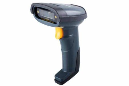 Un lector de código de barras, también llamado ducha de mano o lector de código de barras láser