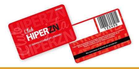 Una tarjeta de socio con su código de barras