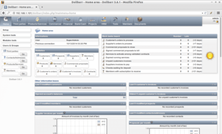 Dolibarr Free CRM Interface