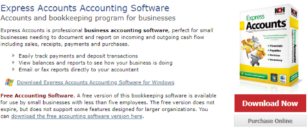 Express Accounts, Free Accounting Software
