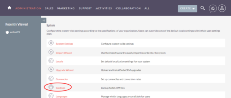Maintenance of the free CRM SuiteCRM software