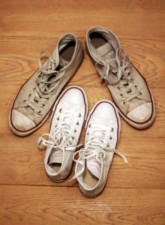 Il faut bien prendre soin de ses baskets blanches;)