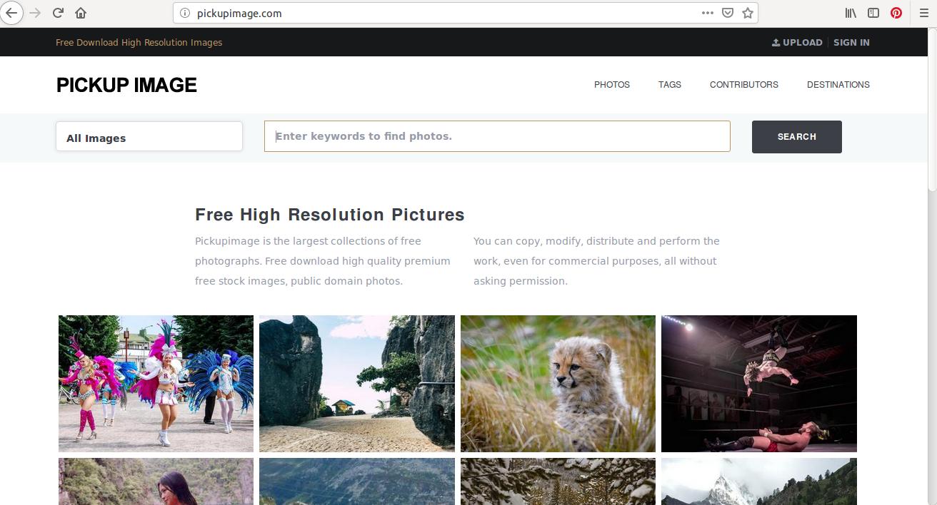 Pickupimage, des photos HD gratuites pour embellir vos contenus web