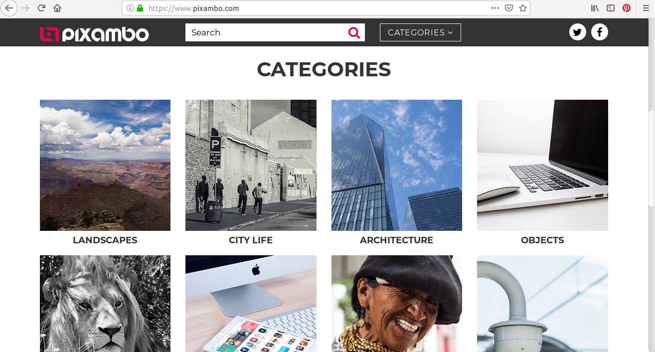 Les catégories de photos sont exhaustives sur Pixambo