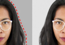 Clipping on the hair of a character on Photoshop