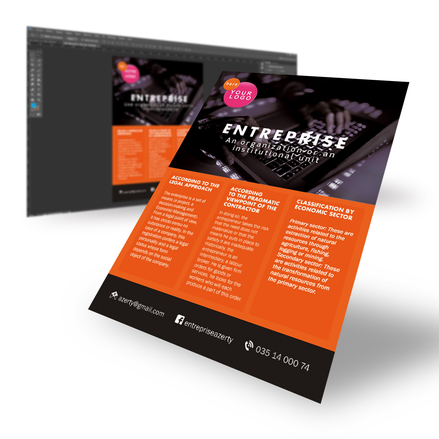 Create a flyer: simple steps with quality rendering