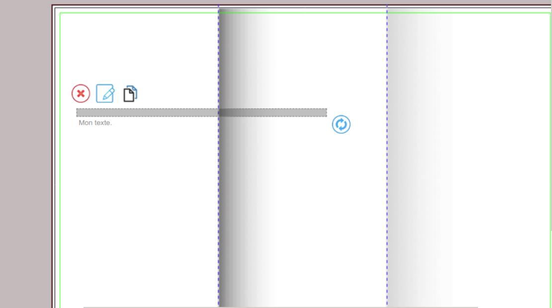 Ces 3 icônes servent à supprimer, éditer et à dupliquer un texte