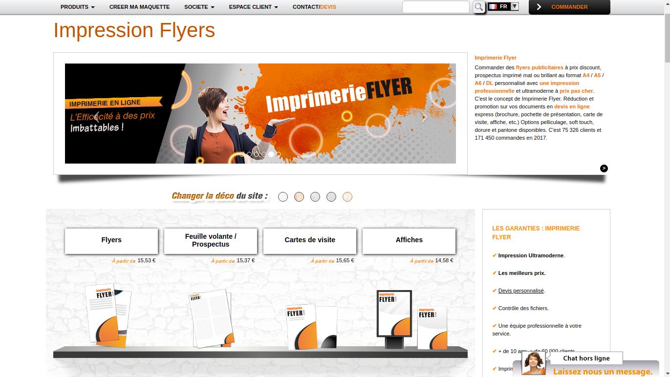 Imprimerie Flyer: un site d'imprimerie en ligne qui vous propose la création d'une plaquette commerciale gratuite
