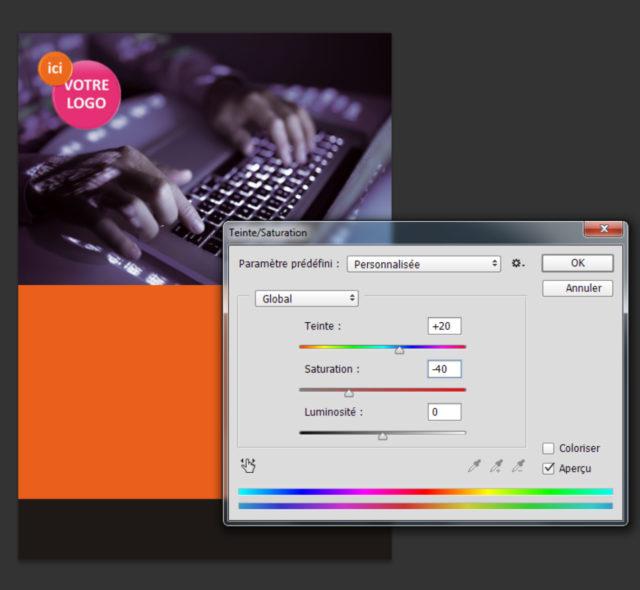 Pour créer un flyer aisé à lire, il faut veiller à l'harmonie des couleurs