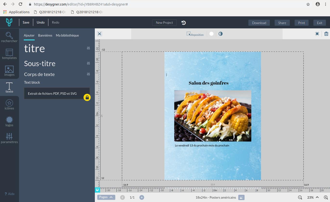 Avec Desygner, on n'a pas besoin d'être un designer professionnel pour créer une affiche publicitaire en ligne gratuitement
