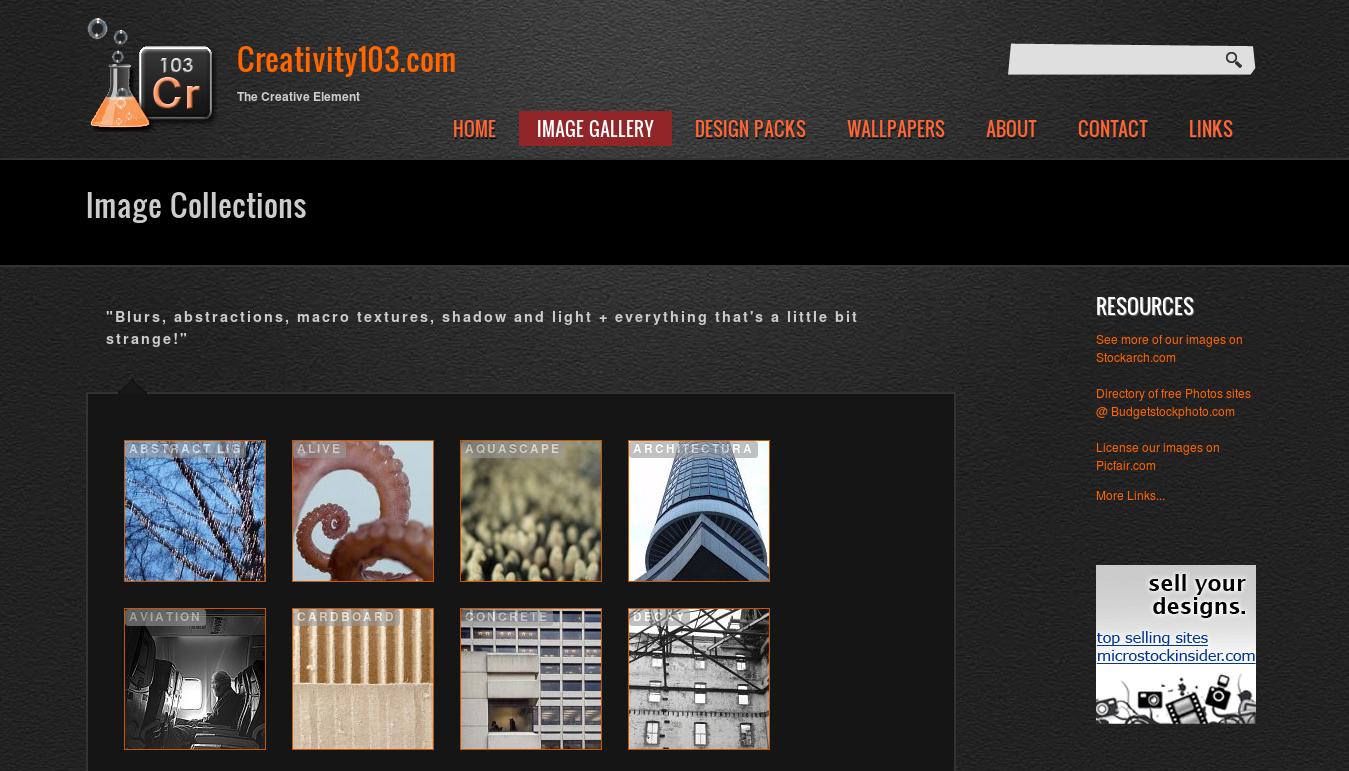 Outre ses nouvelles collections, Creativity103 dispose d'une archive de ses anciennes images