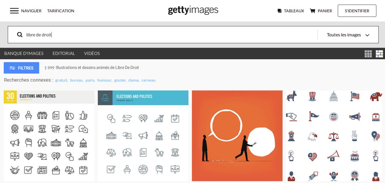 Chez Getty Images, utiliser un dessin libre de droit signifie avoir la permission de le copier, de l'éditer, de le synchroniser, ou encore de le diffuser