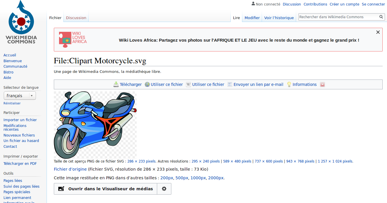 Wikimedia Commons est un dépôt de fichiers média comme les cliparts, illustrations, et dessin libre de droit utilisés sur Wikipédia