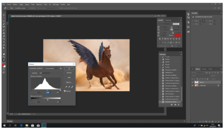 We darkened the horse's wings to make it more natural