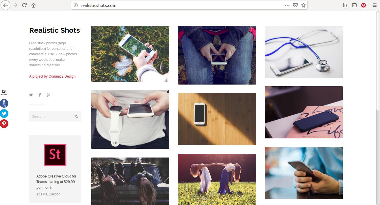 Vous trouverez 5 catégories d'image pour site web sur Realisticshots: architecture, nature, people, travel et technology