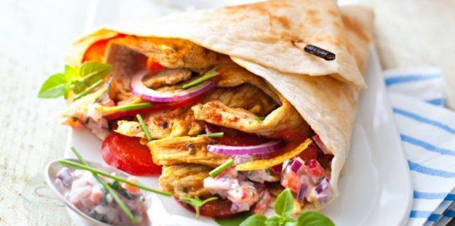 Un kebab super appétissant comme on les aime