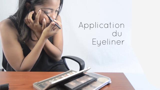 L'eye-liner feutre convient parfaitement aux débutantes en makeup