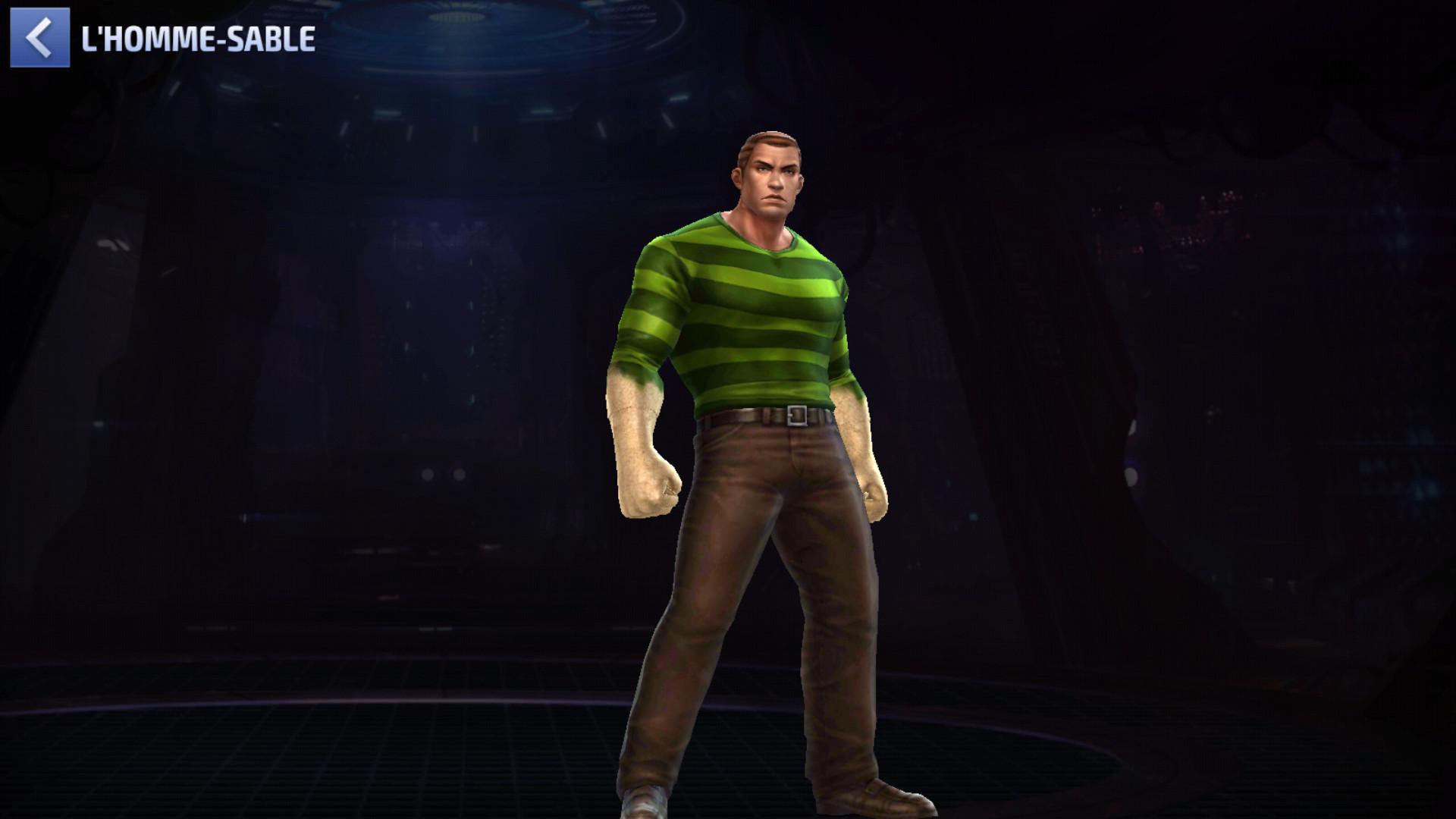 L'Homme-Sable rocks même sans costume!