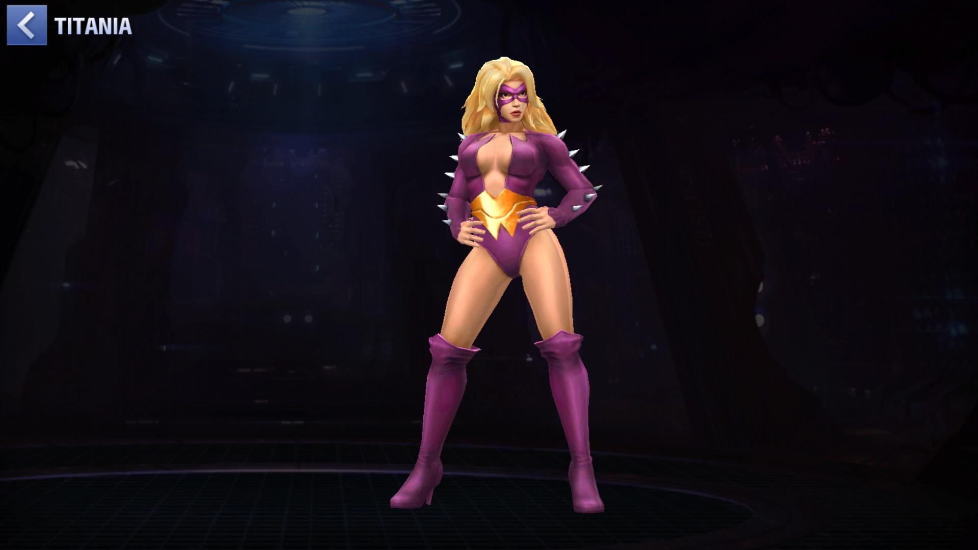 Titania est une femme forte. Très forte