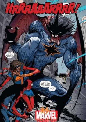 Spider-man et Miss Marvel vont faire les frais d'une Minerva fâchée ^^