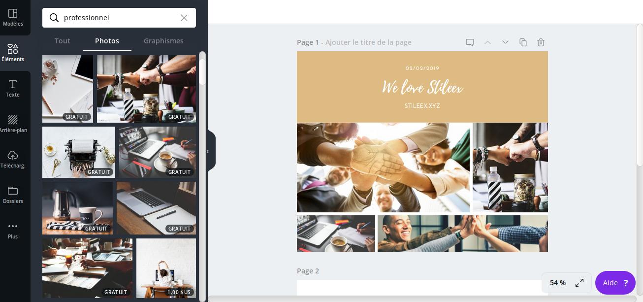 Sur la droite, un montage que j'ai réalisé en quelques minutes sur Canva, plutôt réussi mon montage photo sur un logiciel gratuit!
