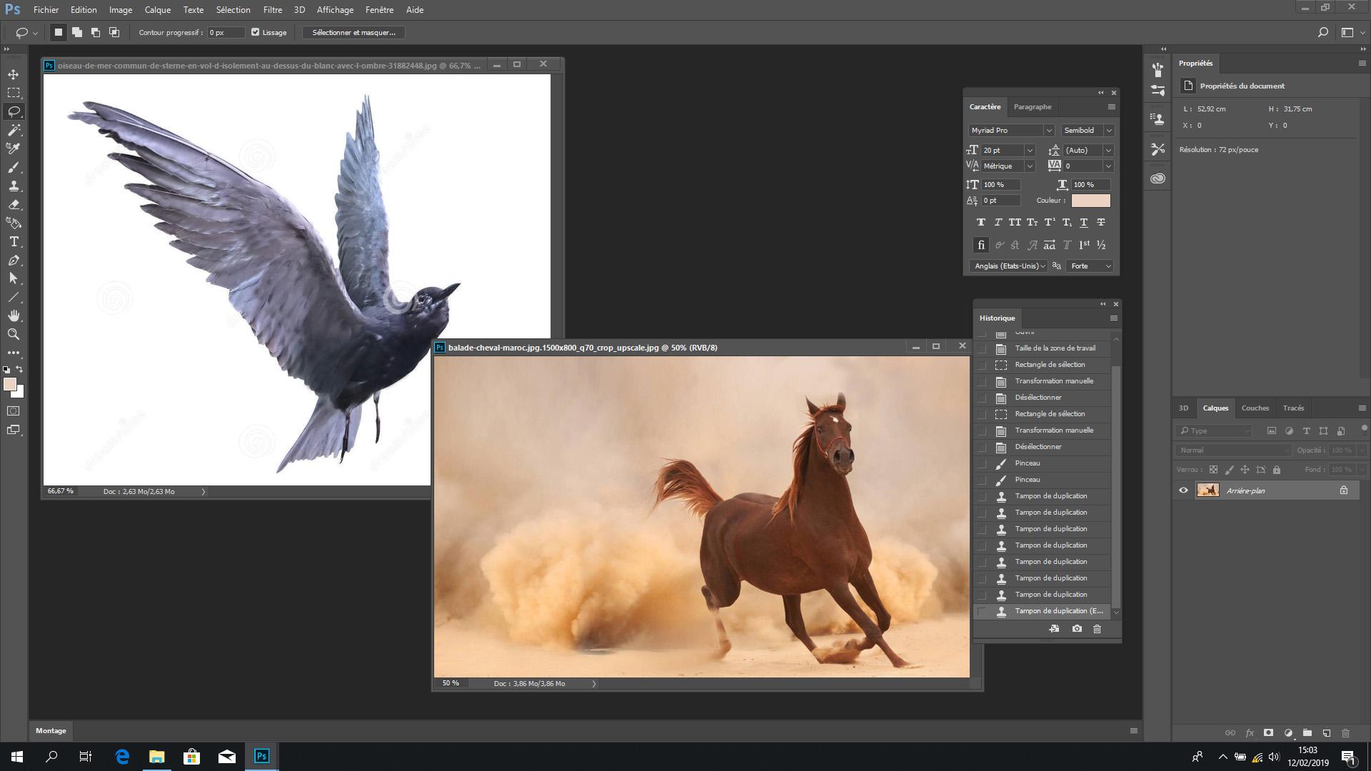 Voici les deux images de la même perspective que j'ai choisie pour ce montage Photoshop