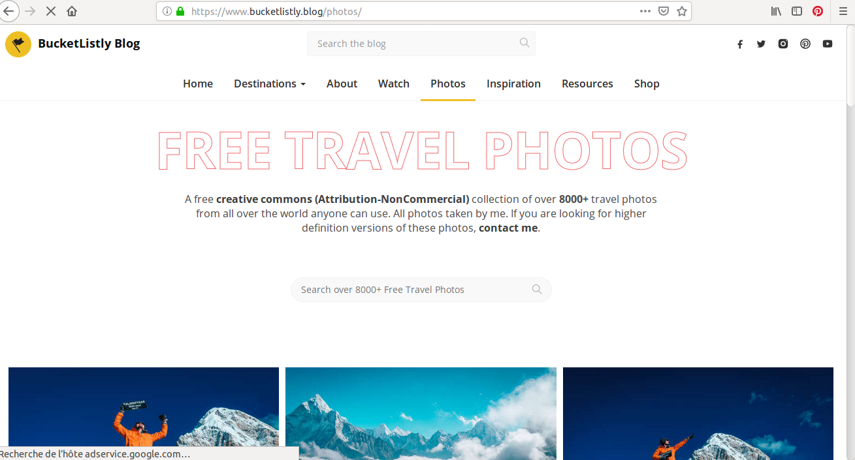 C'est plus de 8 000 photos de voyage qui vous attendent sur Bucket Listly