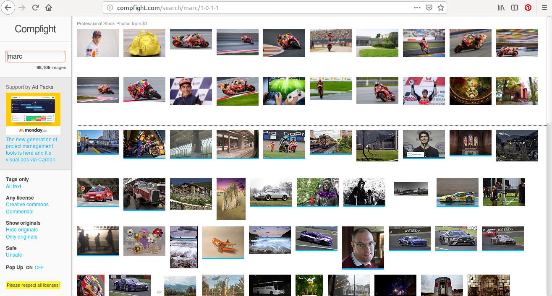 Compfight est un site de photo rapide et très efficace