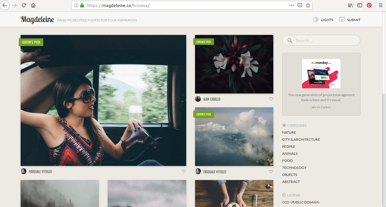 Magdeleine, un site de photo dans lequel vous pouvez piocher des images à gogo