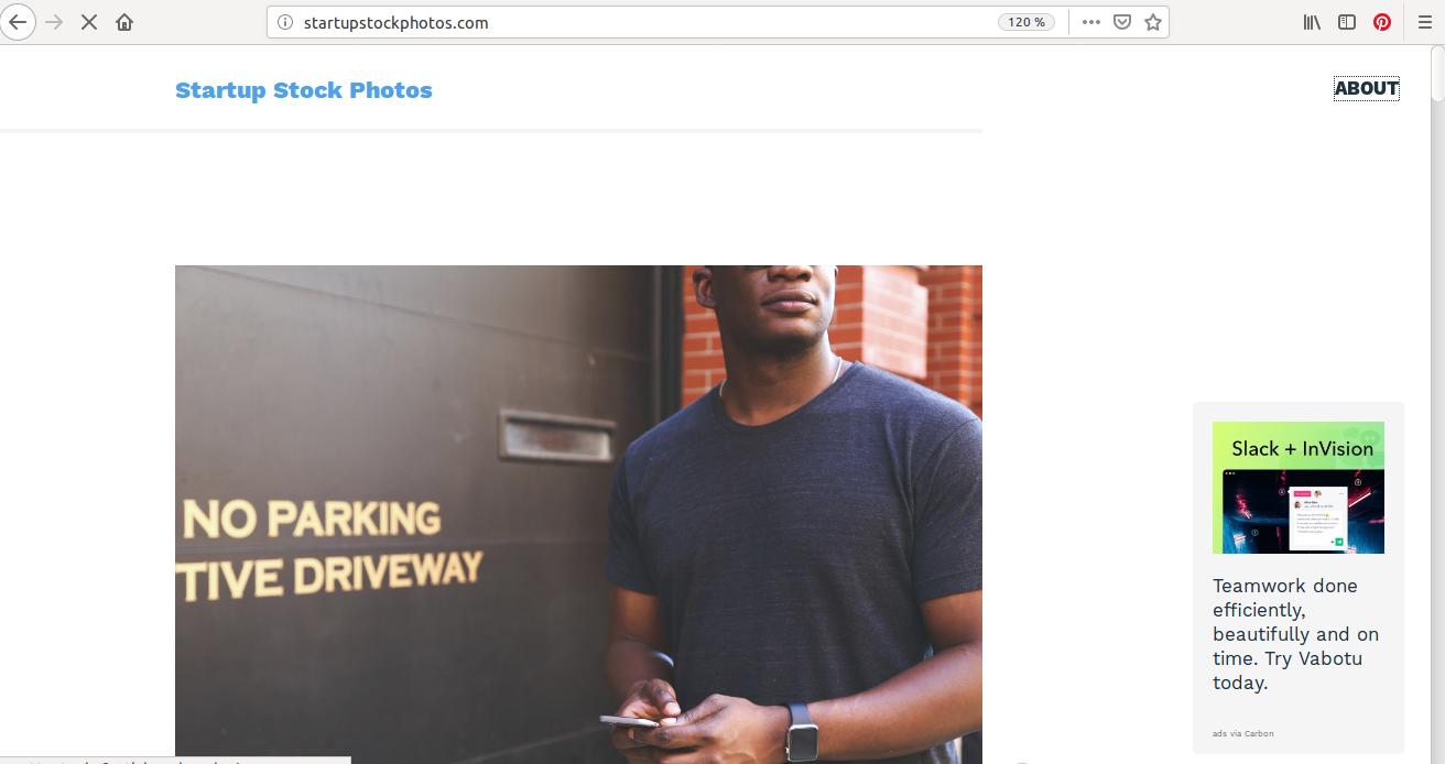 Dommage, pas de barre de recherche sur StartupStockPhoto :/