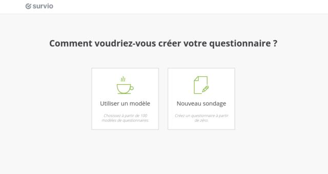Comment voudriez-vous créer votre questionnaire?