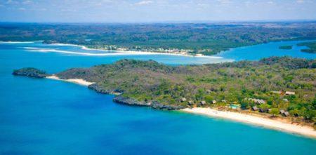 Voici l'île d'Anjajavy vue de haut, un paradis terrestre