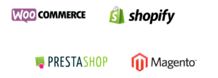 Factomos es compatible con Woocommerce, Shopify, Prestashop y Magento