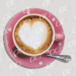 Tasse de café, Coeur, art barista