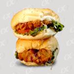 Deux hamburgers poulet
