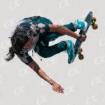 Figure, skateboard