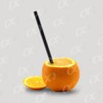 Orange et paille