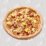 Pizza ronde avec pomme de terre