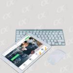 Tablette avec clavier et souris