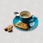 Tasse de café bleue