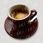 Tasse de café marron