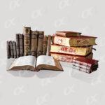 Un livre ouvert et des rangées de livres