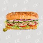 Un sandwich thon oignon