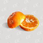 Une orange coupée en deux